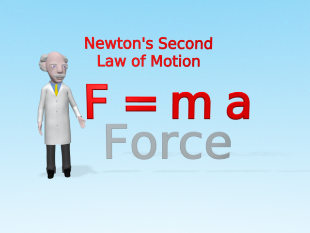 Professor Mac explains F equals force in the equation F=ma